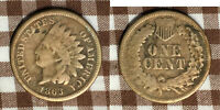 1863 INDIAN HEAD CENT - FINE