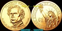 USA 2010 FRANKLIN PIERCE US PRESIDENTIAL STATUE OF LIBERTY  $1 DOLLAR COIN
