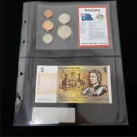 AUSTRALIA COIN & NOTE SET ONE DOLLAR & MIXED COINAGE OCEANIA