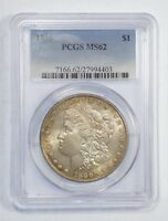 1886 MORGAN DOLLAR CERTIFIED PCGS MINT STATE 62  SILVER DOLLAR