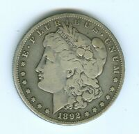 1892-S MORGAN SILVER DOLLAR--CIRCULATED