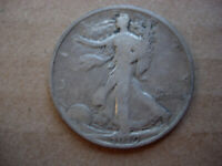 1919 F HIGHER GRADE BETTR EARLY DATE WALKING LIBERTY SILVER HALF DOLLAR-L28