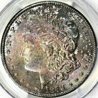 1878-S MORGAN SILVER DOLLAR - PCGS MINT STATE 64 - A VELVET LADY WITH A PRISTINE REVERSE