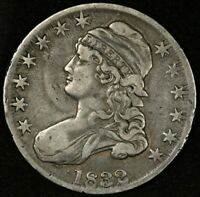 1832 CAPPED BUST HALF DOLLAR LARGE LETTERS VF