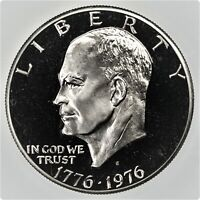 1976 S EISENHOWER DOLLAR TYPE 2 GEM CAMEO CLAD PROOF COIN