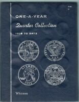 QUARTERS COLLECTION WHITMAN 1 A YEAR FOLDER 1916-1976. 14 SILVER COINS