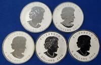 5 CANADA 1 OZT SILVER REV PF $5 MAPLE LFS 2013 SNAKE 14 HORS