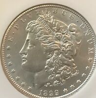 1899-S  MORGAN DOLLAR , BRILLIANT ABOUT  UNCIRCULATED, NGC 58
