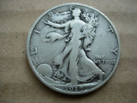 1919  VF BETTER DATE WALKING LIBERTY SILVER HALF DOLLAR-L29