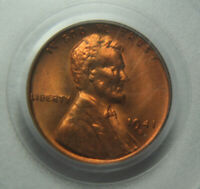 1941-S LINCOLN WHEAT EARS REVERSE ONE CENT PCGS MINT STATE 66RD