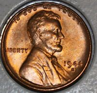 1944-S WHEAT CENT UNCIRCULATED BU RED [SN25]