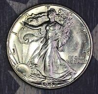 1942-S WALKING LIBERTY SILVER HALF DOLLAR COLLECTOR COIN SHIPS FREE