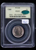 1900 LIBERTY HEAD NICKEL. PCGS MINT STATE 65 CAC
