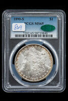 1890-S MORGAN DOLLAR. PCGS MINT STATE 65 CAC
