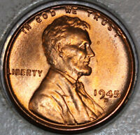 1945-D WHEAT CENT UNCIRCULATED BU RED [SN46]