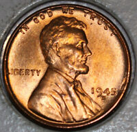 1945-D WHEAT CENT UNCIRCULATED BU RED [SN48]