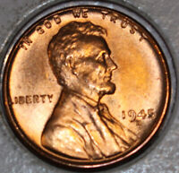 1945-D WHEAT CENT UNCIRCULATED CHOICE RED [SN61]