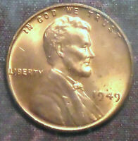1949 WHEAT CENT BU NEAR FULL RED BRILLIANT UNCIRCULATED POST WW2 PICK A SET