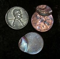 LOT OF  3  UNCERTIFIED LINCOLN MINT ERRORS INCLUDING A 1943