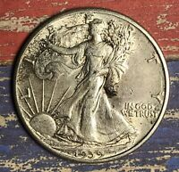 1939 WALKING LIBERTY SILVER HALF DOLLAR COLLECTOR COIN. SHIPS FREE