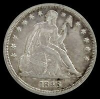 1846 USA SILVER SEATED LIBERTY DOLLAR EXTRA FINE CONDITION