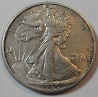 1939 P WALKING LIBERTY SILVER HALF DOLLAR 39PEW2