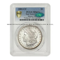 1881-CC $1 SILVER MORGAN PCGS MINT STATE 67 CAC CERTIFIED CARSON CITY HIGH END DOLLAR