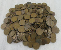 1920'S WHEAT CENT CIRCULATED LOT OF 350 FROM HUGE HOARD