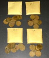 LOTS O' LINCOLNS  1911  1912  1913  1914 - EARLY WHEATIE FUN