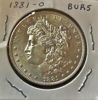 1881 O  MORGAN SILVER DOLLAR  BU FROM OLD BANK ROLL