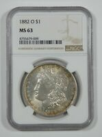 1882-O MORGAN DOLLAR CERTIFIED NGC MINT STATE 63 SILVER DOLLAR