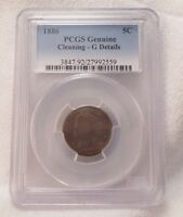 PCGS GENUINE 1886 LIBERTY/