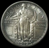 1917 SILVER STANDING LIBERTY QUARTER TYPE 1 CHOICE MINT STATE