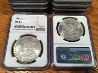 1885-O MORGAN DOLLAR - NGC MINT STATE 63 WHITE TO NEARLY WHITE TO MOSTLY WHITE