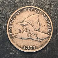 1857 FLYING EAGLE CENT - HIGH QUALITY SCANS H016