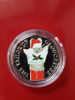 BEATRIX POTTER 2018 TAILOR OF GLOUCESTER XMAS COLOUR DECAL 50P COIN IN CAPSULE