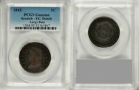 1812 CLASSIC LIBERTY HEAD DESIGN LARGE DATE VARIETY LARGE CENT PCGS VG