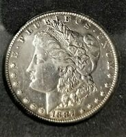 1887 S $1 MORGAN SILVER DOLLAR COIN ALMOST UNCIRCULATED CONDITION, UNGRADED.