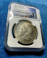 1886-O MORGAN SILVER DOLLARGENE L HENRY LEGACY COLLECTION - VAM 1A  NGC AU 55