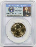 2014-D FRANKLIN D. ROOSEVELT $1 PCGS MINT STATE 67 POSITION B PRESIDENTIAL DOLLAR
