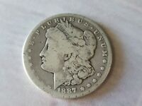 1887-S MORGAN SILVER DOLLAR CIRCULATED UNGRADED COIN