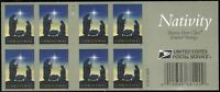 >> US MNH OG 5144 CHRISTMAS BOOKLET FULL TWO SIDED NEVER FOL