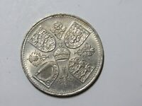 OLD GREAT BRITAIN COIN   1953 FIVE SHILLINGS   CIRCULATED SC