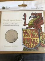 FIVE POUND 5 2018 QUEENS BEASTS   DRAGON ROYAL MINT PACK