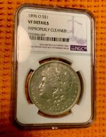 1896-O MORGAN SILVER DOLLAR NGC CERTIFIED: VF-DETAILS IMPROPERLY CLEANED