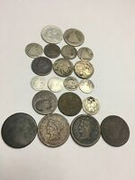TYPE LOT LARGE 1C 2C 3CN 5C  SILVER SEATED 5C 10C 25C LOW GR