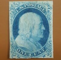 US SC 9 VAR RECUT ONCE TYPE IV SCARCE MINT VF  SCOTT $775