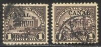 CANAL ZONE 81 95 USED   1924 25 $1.00 OVERPRINTS  $150