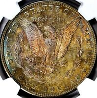 1881-S MORGAN SILVER DOLLAR - NGC MINT STATE 66 -TONED OBVERSE & REVERSE, PREMIUM COIN