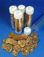 1963 P LINCOLN MEMORIAL CENTS   BU   5 TUBED ROLLS